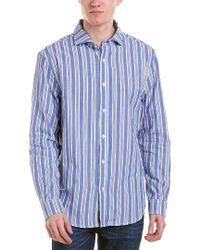 NIFTY GENIUS Blue Earnest Spread Collar Woven Shirt for men