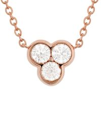 Hearts On Fire Metallic 18k Rose Gold 0.33 Ct. Tw. Diamond Effervescence Pendant Necklace