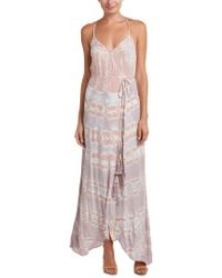 Young Fabulous & Broke Pink Lorelai Wrap Maxi Dress