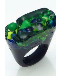 Pasionae - Green Murano Ring - Piety - Lyst