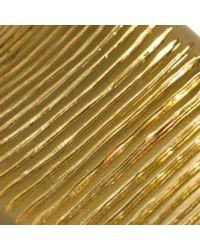 Hissia - Metallic Oni Earrings - Lyst