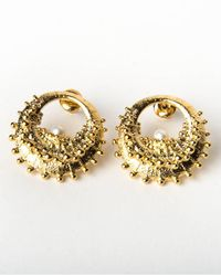 De La Forge | Metallic Echinoidea Gold Earrings | Lyst