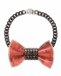 Bijoux De Famille | Orange Pyramide Bow Necklace | Lyst