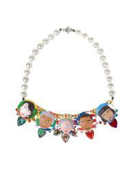 Bijoux De Famille | Multicolor Rule Me Plastron Necklace | Lyst
