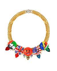 Bijoux De Famille   Multicolor Flag Me Plastron Necklace   Lyst