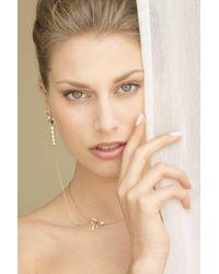 Karapetyan | Metallic Ruban Pendant Necklace And Single Earring | Lyst