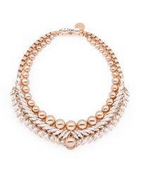 Ellen Conde   Pink Bettie Rose Gold Necklace   Lyst