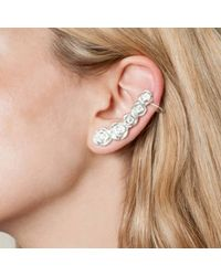 Leivan Kash | Metallic Rose Ear Cuff | Lyst
