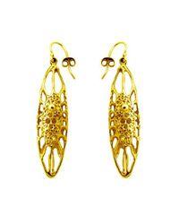 Ayaka Nishi | Metallic Gold Long Cell Earrings | Lyst