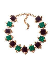 Eshvi | Multicolor Back To School Malachite Choker Necklace | Lyst