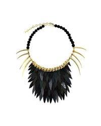 Ayaka Nishi - Short Black Fishscale Necklace - Lyst