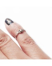 Ayaka Nishi - Metallic Tiny Bone Yellow Bronze Knuckle Ring - Lyst