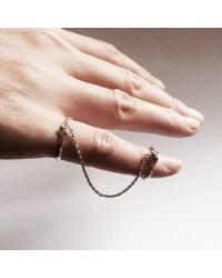 Ayaka Nishi - Metallic Yellow Bronze Bone Chain Ring - Lyst