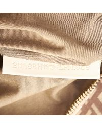 Fendi Pre-loved Brown Light Canvas Fabric Zucchino Tote Bag Italy