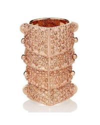 Vivienne Westwood - Multicolor Pink Copper Diamante Armour Gladiator Ring Sz M - Lyst