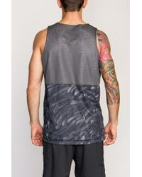 b058d4242d256 Lyst - RVCA Defer Reversible Va Sport Dealer Ii Tank in Gray for Men