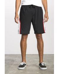 RVCA - Black Bruce Sport Short for Men - Lyst