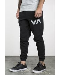 RVCA - Black the Swift Sweat Pant for Men - Lyst