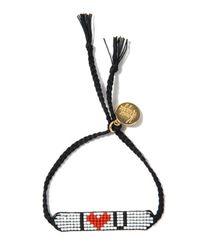 Venessa Arizaga   Black I Love You Bracelet   Lyst