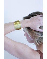 Erin Considine | Metallic Ellipse Cuff In Brass | Lyst