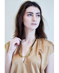 Erin Considine | Ridge Choker Necklace In Brass And Black | Lyst