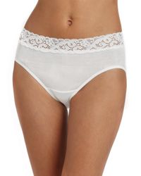Hanro - White Moments Cotton Hipster Brief - Lyst