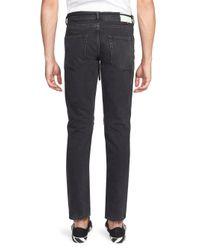 Off-White c/o Virgil Abloh Black D-slim Zip Jeans for men