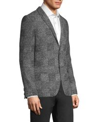 HUGO Gray Arwido Soft Houndstooth Blazer for men