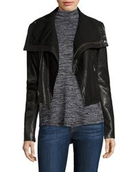 VEDA | Black Max Classic Leather Moto Jacket | Lyst