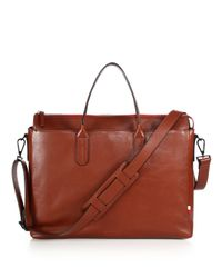Uri Minkoff - Brown Brompton Leather Briefcase for Men - Lyst