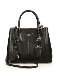 Prada - Black Ayers Double Bag - Lyst
