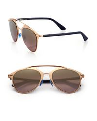 Dior | Metallic Reflected 52mm Modified Pantos Sunglasses | Lyst