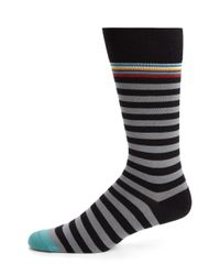 Paul Smith | Black Stretch Cotton-blend Socks for Men | Lyst