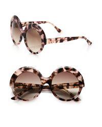 Cutler & Gross - Pink Oversized 56mm Round Sunglasses - Lyst
