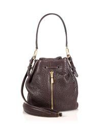 Elizabeth and James | Brown Cynnie Mini Pebbled Leather Bucket Bag | Lyst