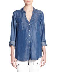 Joie   Blue Soft Brady Chambray Shirt   Lyst
