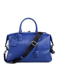 COACH - Blue Explorer Leather Duffel Bag for Men - Lyst