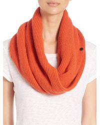 Rag & Bone | Orange Cynthia Cashmere & Wool Circle Scarf | Lyst