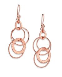 Ippolita | Pink Rose Glamazon Diamond Jet Set Drop Earrings | Lyst