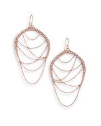 Alexis Bittar - Pink Miss Havisham Jagged Crystal Draped Chain Drop Earrings - Lyst