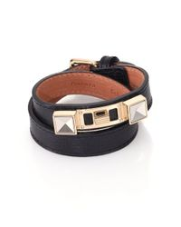 Proenza Schouler | Black Ps11 Linosa Leather Double-wrap Bracelet | Lyst