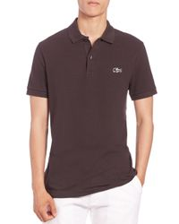 Lacoste | Brown Camo Croc Pique Polo for Men | Lyst