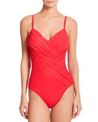 Gottex - Red One-piece Lattice Swimsuit - Lyst