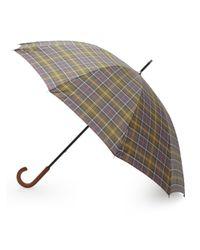Barbour | Gray Tartan Golf Umbrella | Lyst