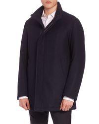 Sanyo | Blue Water-repellent Wool Coat for Men | Lyst