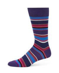 Paul Smith - Blue Albermarle Multi-striped Socks for Men - Lyst
