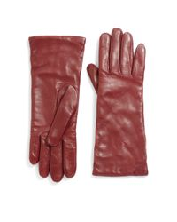 Saks Fifth Avenue | Purple Cashmere-lined Leather Gloves | Lyst
