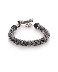 King Baby Studio   Metallic Sterling Silver Stingray Bracelet for Men   Lyst