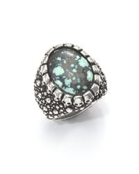 King Baby Studio | Metallic Stingray Turquoise & Sterling Silver Ring for Men | Lyst