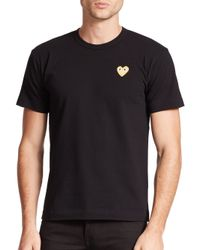 Play Comme des Garçons | Black Small Emblem Tee for Men | Lyst